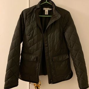 Women olive green spring/fall jacket h&m